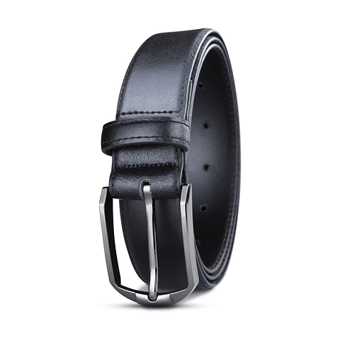Miura - Cinturón Hombre Cuero Negro