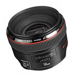 Arriendo de Lente Canon EF 50 mm 1.2 L