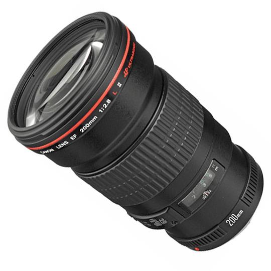 Arriendo de Lente Canon EF 200mm 2.8L II USM