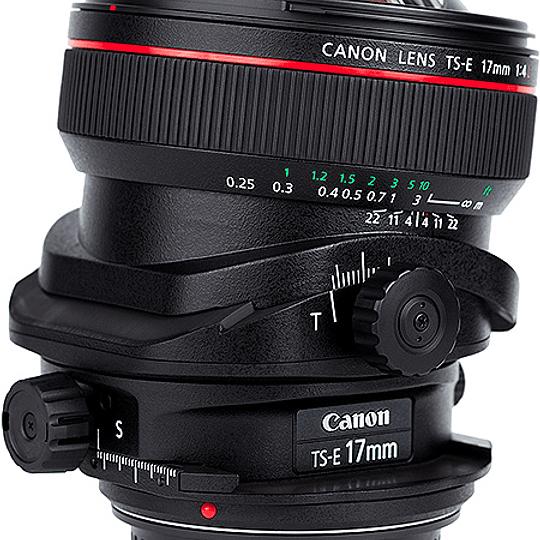 Arriendo de Lente Canon TS-E 17 mm f/4 L Tilt Shift