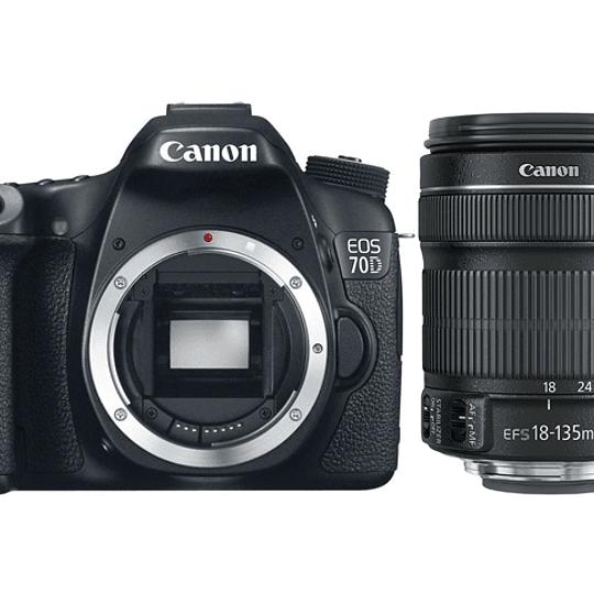 Arriendo de Camara Canon 70D con zoom 18-135mm IS USM