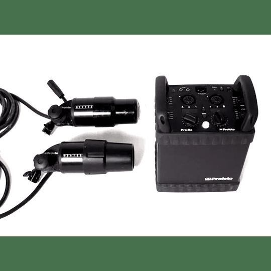 Arriendo de Generador Profoto Pro8A 2400 w/s con dos cabezales Pro Head Plus