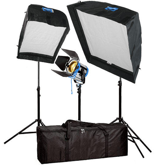 Arriendo de Kit Arrilite Arri 1000w con cajas de luz 90x120 y 60x80 y Fresnel Arri 650w