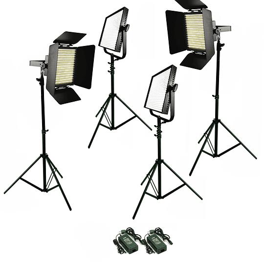 Arriendo de Kit 4 Unidades Led, 2 Litepanels 1x1 Mono (5600K) y 2 Acme 900 Bicolor