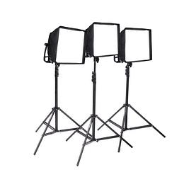 Arriendo de Kit de 3 Unidades Led Litepanels Astra Bicolor Con Accesorios A: 3 cajas