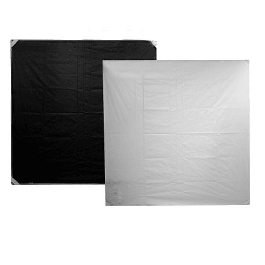 Arriendo de Tela Chimera Blanca/Negra 72x72 (180x180cm)