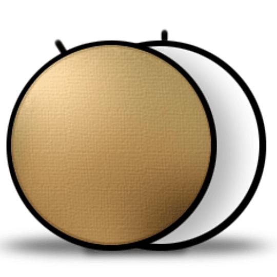 Arriendo de Reflector Visico Circular Plegable Dorado/Blanco Cálido 100cm