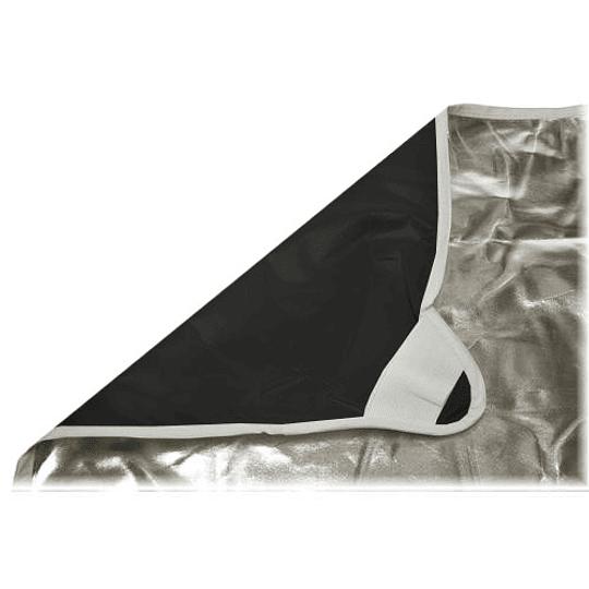 Arriendo de Tela Photoflex Negra/Plata 1x1mt