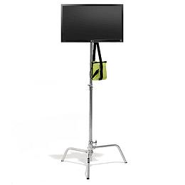 """Arriendo de Monitor Cliente LG 22"""" HDMI con c-stand y batería"""