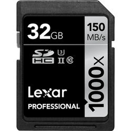 Arriendo de Tarjeta de Memoria Lexar SDhc 32GB 1000x UHS-II clase 10