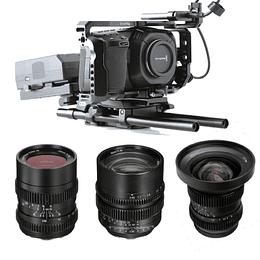Arriendo de Kit Filmmaker Blackmagic Pocket 4K Avanzado con Maleta SLR Magic