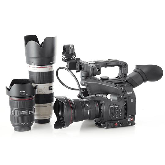 Arriendo de Camara Canon C200, Cine Digital, 3 zoom Canon