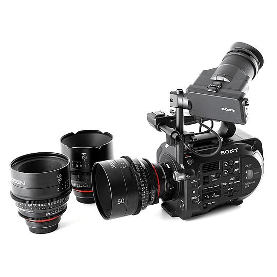 Arriendo de Camara Sony PXW-FS7 con 3 lentes Cine Xeen