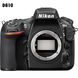 Arriendo de Camara Nikon D810 36 Mpx, solo cuerpo