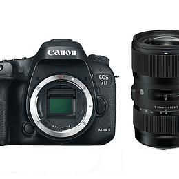 Arriendo de Kit Cámara Canon 7D Mark II con Lente Sigma 18-35