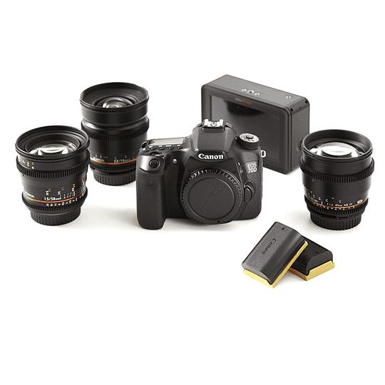 Arriendo de Kit Canon 70D con lentes Rokinon y Ninja Blade