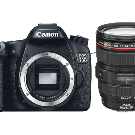 Arriendo de Camara Canon 70D con zoom 24-105 IS f/4 L