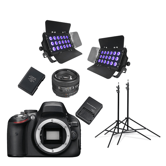 Arriendo de Cámara Canon UV con kit de luces UV