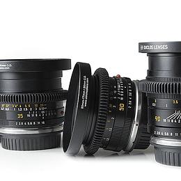 Arriendo de Maleta 3 lentes Leica R Cine Modded, a elección