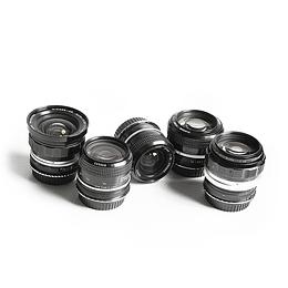 Arriendo de maleta de 5 lentes Nikon VINTAGE Sony-E