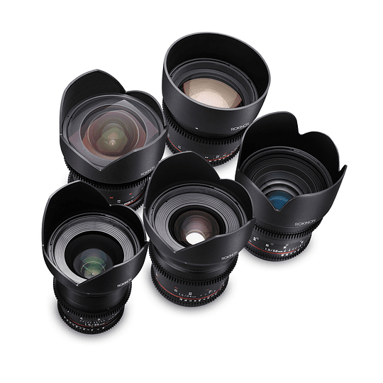 Arriendo de Maleta 5 lentes Rokinon Cine DS EOS 14-35-24-50-85