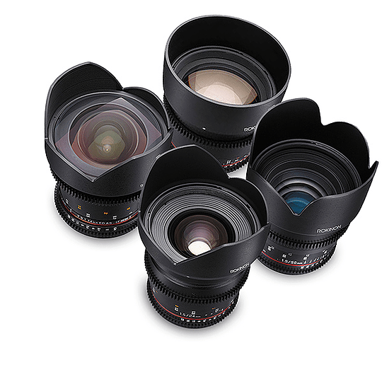 Arriendo de Maleta con 4 lentes Rokinon Cine DS EOS 14-24-50-85