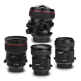 Arriendo de Maleta con 4 Lentes Canon TS-E (tilt-shift)