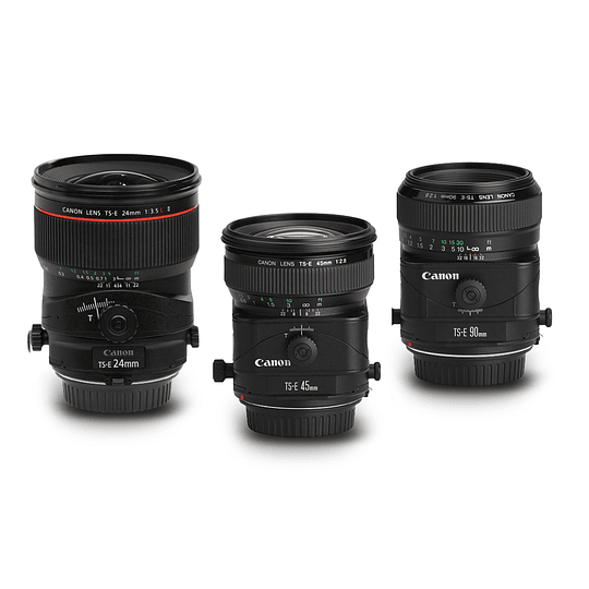 Arriendo de Maleta con 3 Lentes Canon TS-E (tilt-shift)