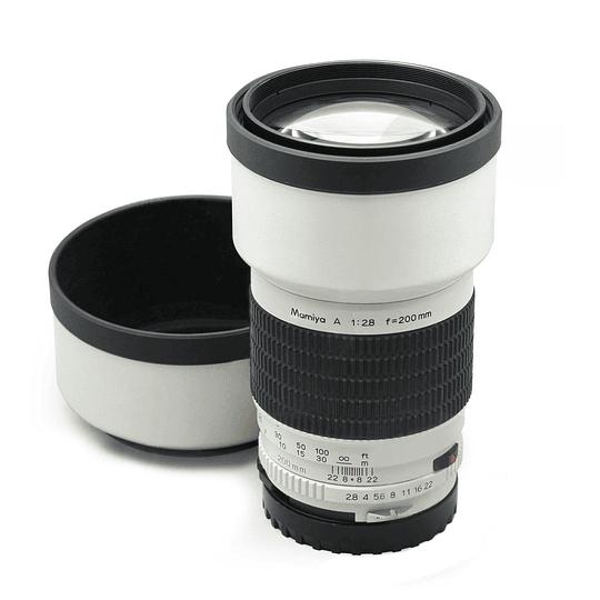 Arriendo de lente Mamiya 200 mm f2.8 tele MF