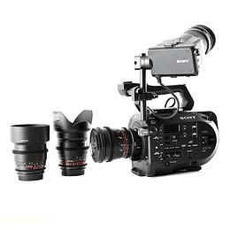 Arriendo de Camara Sony PXW-FS7 con 3 lentes Rokinon Cine DS