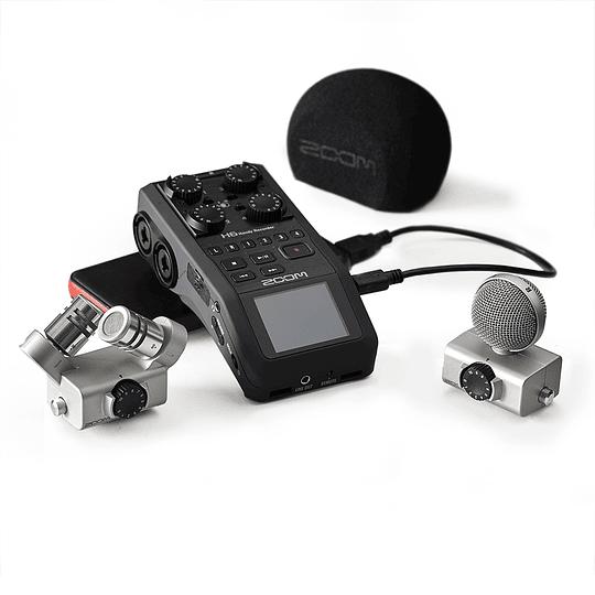 Arriendo de Grabador ZOOM H6 con micrófonos X/Y & MS