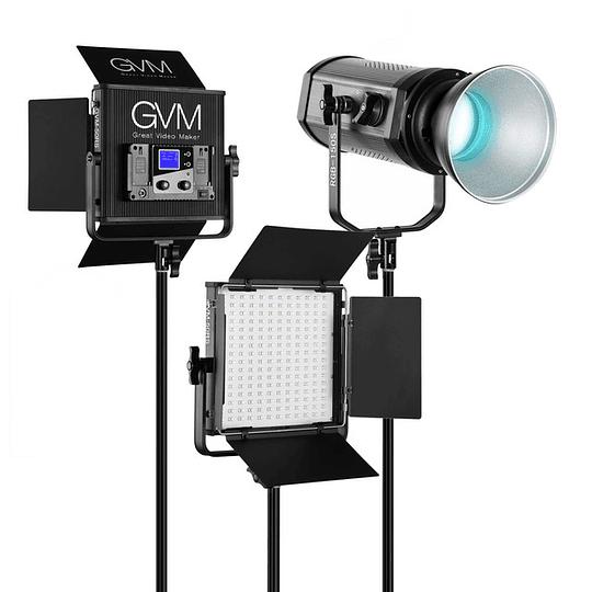 Arriendo de Kit de 3 luces Led RGB GVM (50RS-50RS-150S)