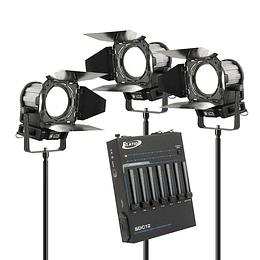 Arriendo de Kit de 3 Fresneles Led Litepanels Sola 6 con controlador DMX