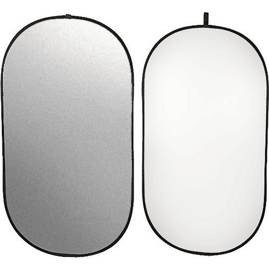 Arriendo de Reflector Visico Ovalado Plateado-Blanco 1x2mt
