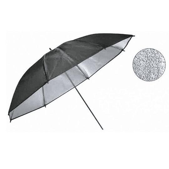 Arriendo de Paraguas Visico Plateado Texturado 100cm
