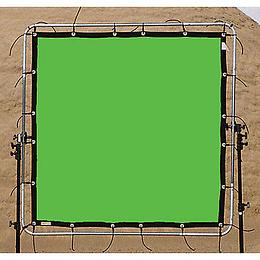 Arriendo de Croma Key Matthews Verde 12x12' (3.6x3.6mt) con marco y trípodes