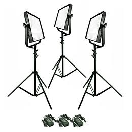Arriendo de Kit 3 Unidades Led Litepanels 1x1 Mono (5600K)