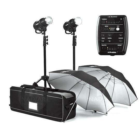 Arriendo de Kit de flash Profoto (500,500-A) 2 unidades D1 500 w/s con remoto y modificadores