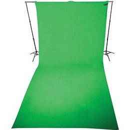Arriendo de Croma Key Westcott Verde 3x6mt con portafondos