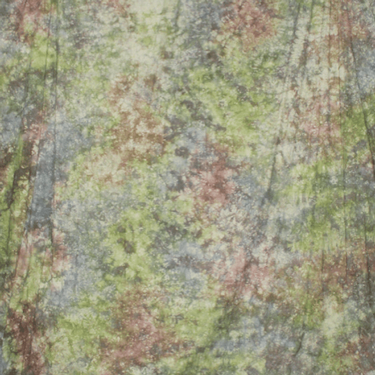 Arriendo de Fondo de Tela Abstracto Tonos Verde, Amarillo y Rojo 3x6 mt