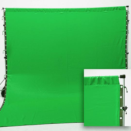 Arriendo de Fondo de Tela Verde 3x4 mt
