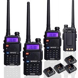 Arriendo de Pack de 4 Radio Transmisores Portatiles Retevis RT-5R
