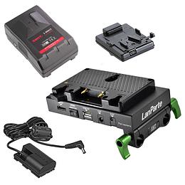 Kit de bateria multi voltaje de larga duración para Canon 5D,7D