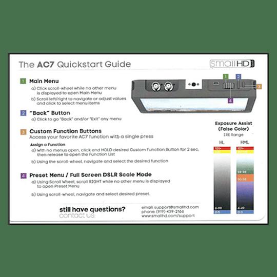 Guia Rapida Monitor SmallHD AC7