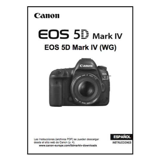 Manual Camara Canon 5d Mk IV