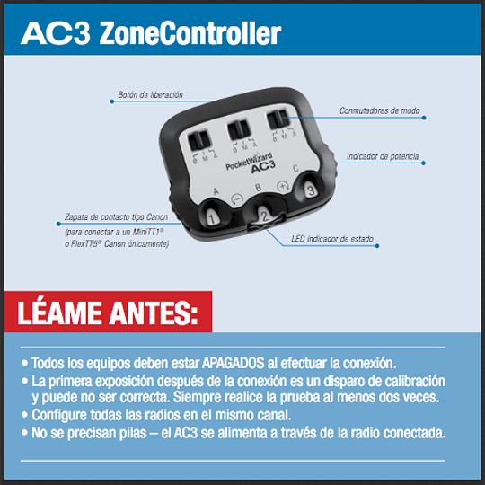Manual Controlador de Zonas AC3 para canon