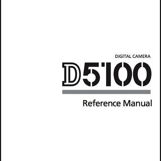 Manual de Camara Nikon D5100