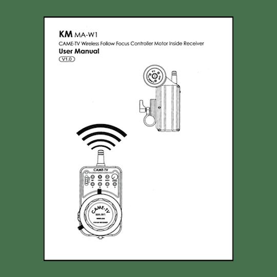 Manual de Uso Follow Focus inhalambrico CAME TV