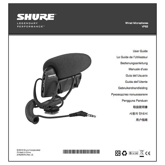 Manual de Uso Microfono VP83 Shure