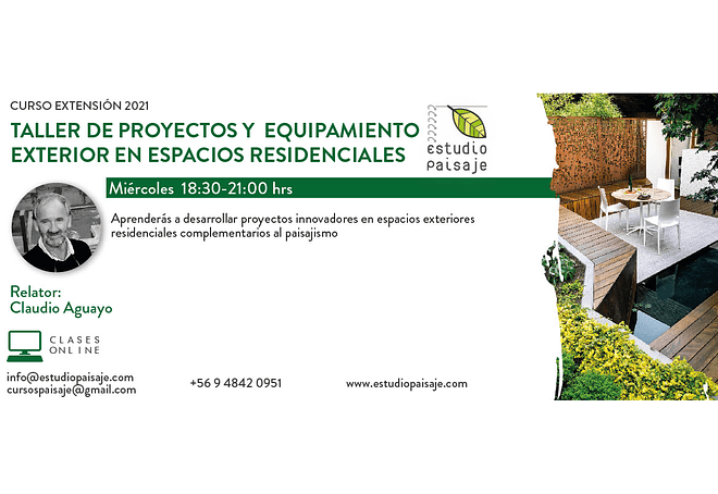 CURSO PROYECTOS DE EQUIPAMIENTO PARA JARDINES RESIDENCIALES
